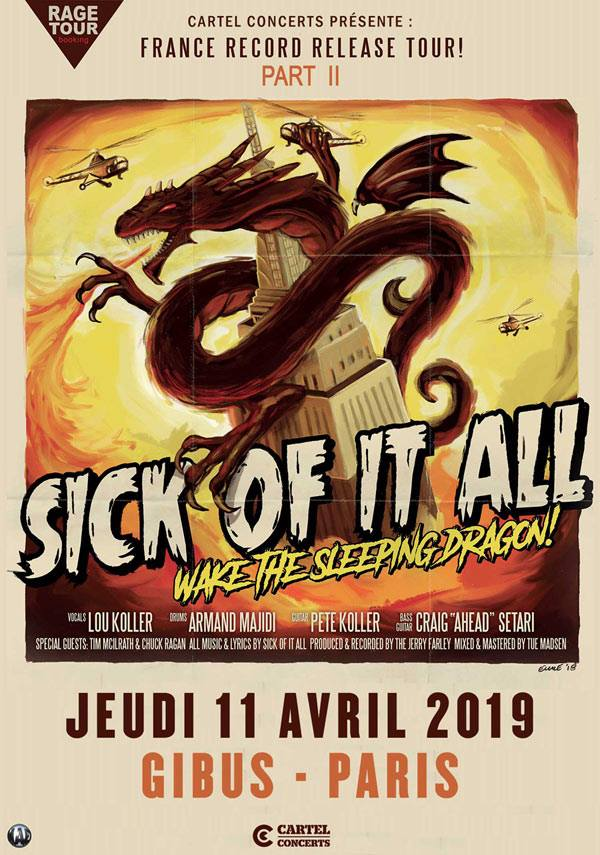 "11 avril 2019 Sick Of It All, Do Or Die à Paris ""Gibus"""