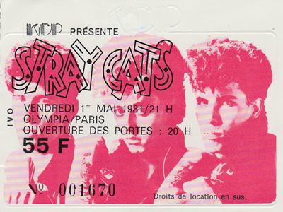 """1er mai 1981 Stray Cats à Paris """"Olympia"""""""