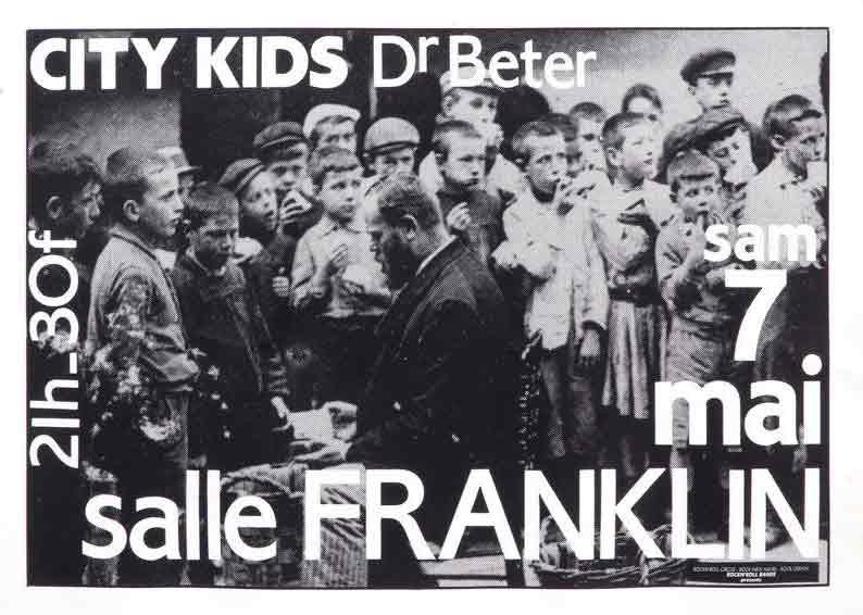 "7 mai 1983 City Kids, Dr Beter au Havre ""Salle Franklin"""