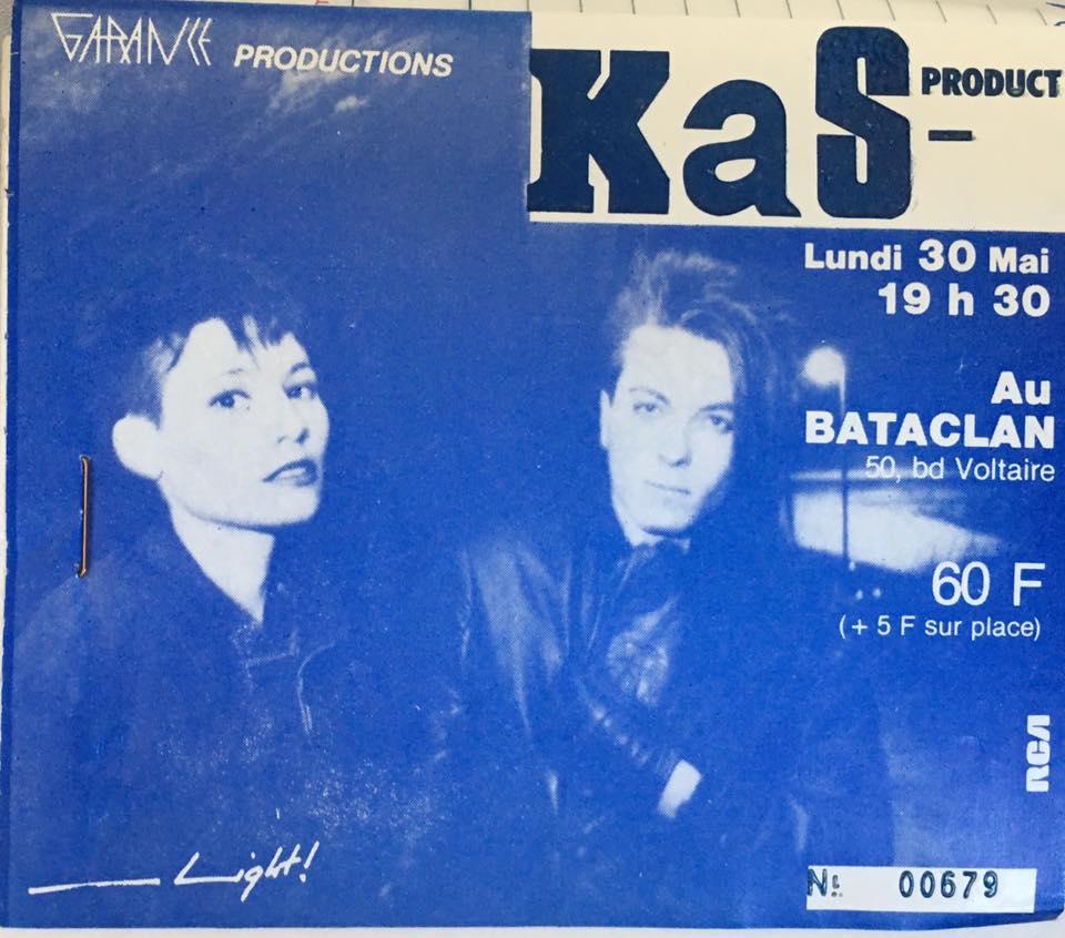 """30 mai 1983 Kas Product à Paris """"Bataclan"""""""