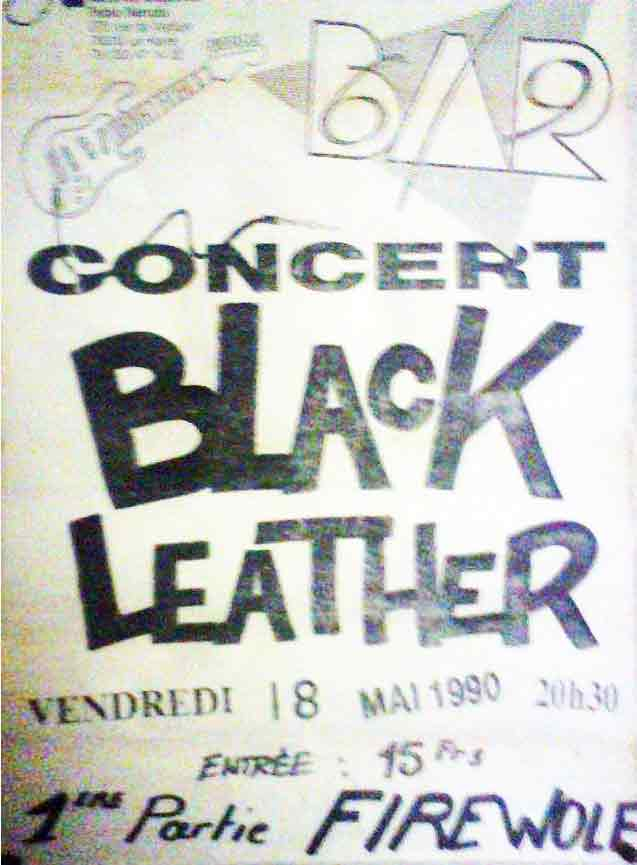 18 mai 1990 Black Leather, FireWolf au Havre