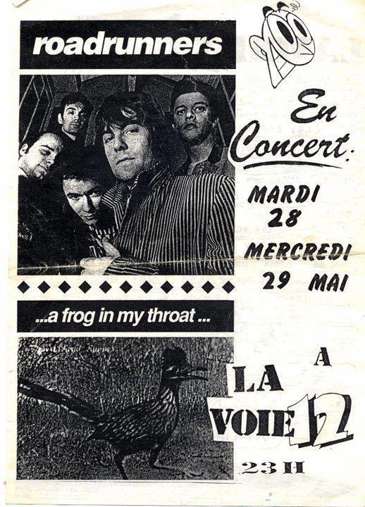 "28 mai 1991 Roadrunners, Rosemary's Babies à Toulouse ""la Voie 12"""
