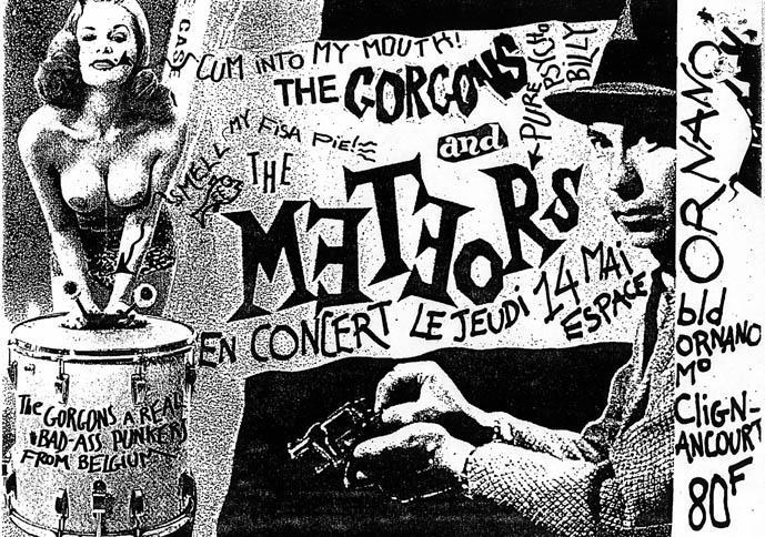 "14 mai 1992 (?)  Meteors, The Gorgons à Paris ""Espace Ornano"""