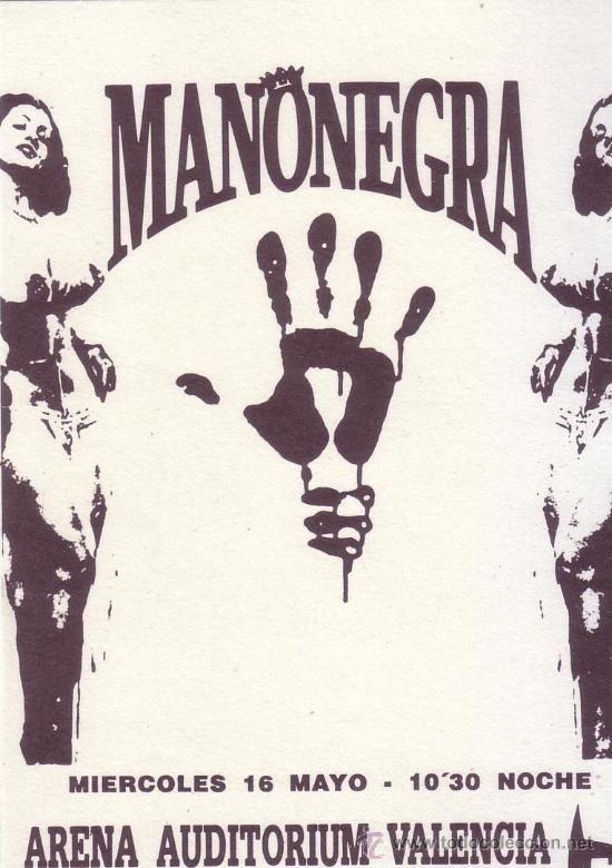 "16 mai 1992 Mano Negra à Valence 'Arena Auditorium"""