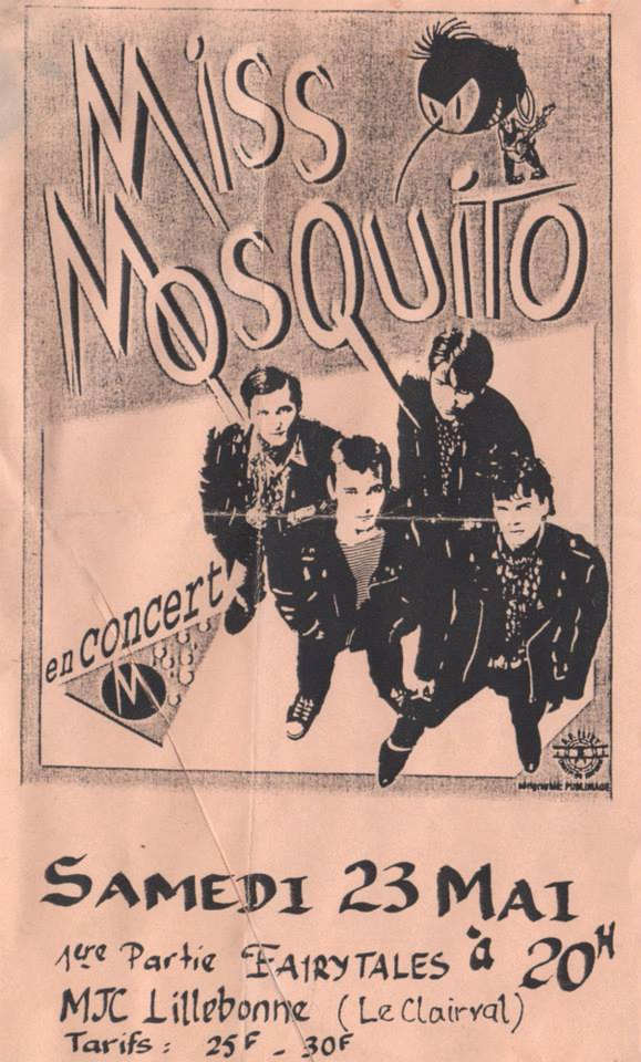 "23 mai 1992 Miss Mosquito, Fairytales à Lillebone ""MJC"""