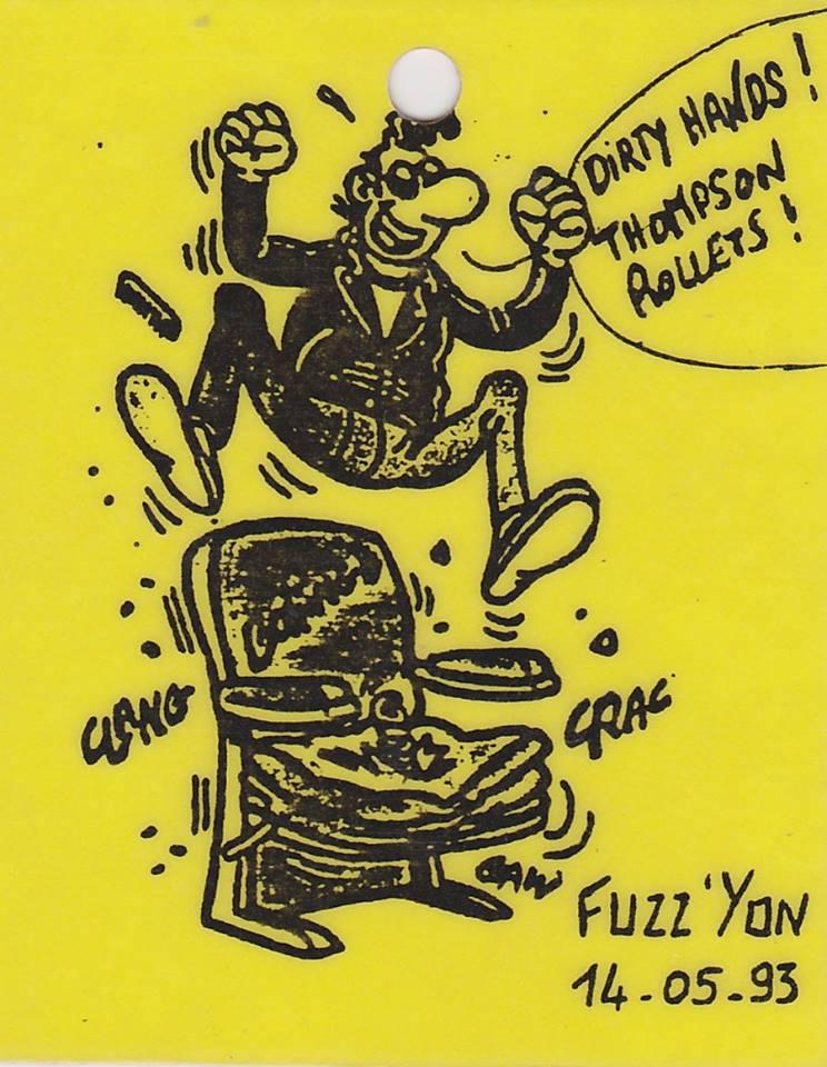 """14 mai 1993 Dirty Hands, Thompson Rollets à La Roche Sur Yon """"Fuzz Yon"""""""