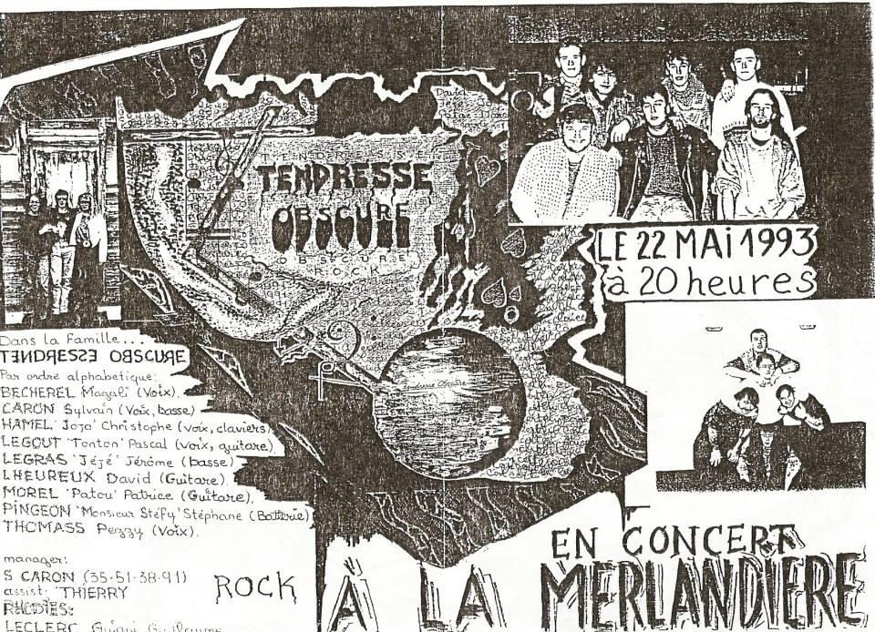 """22 mai 1993 Tendresse Obscure au Havre """"la Merlandiere"""""""