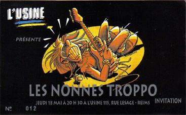 """18 mai 1996 Les Nonnes Troppo à Reims """"L'Usine"""""""