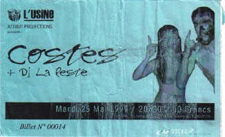 "25 mai 1999 Costes, DJ La Peste à Reims ""l'Usine"""