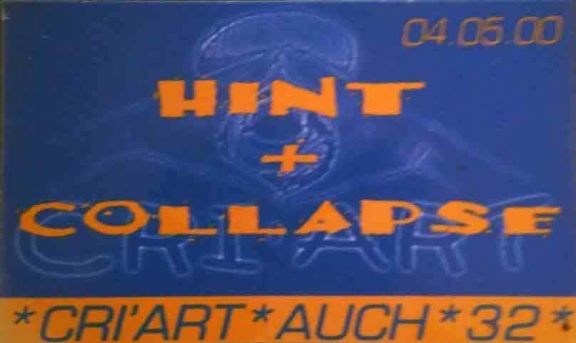 """4 mai 2000 Hint, Collapse à Auch """"Cri'Art"""""""