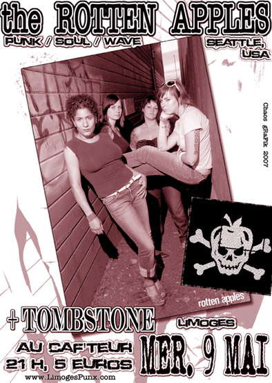 "9 mai 2007 The Rotten Apples, Tombstone à Limoges ""Caf""teur"""