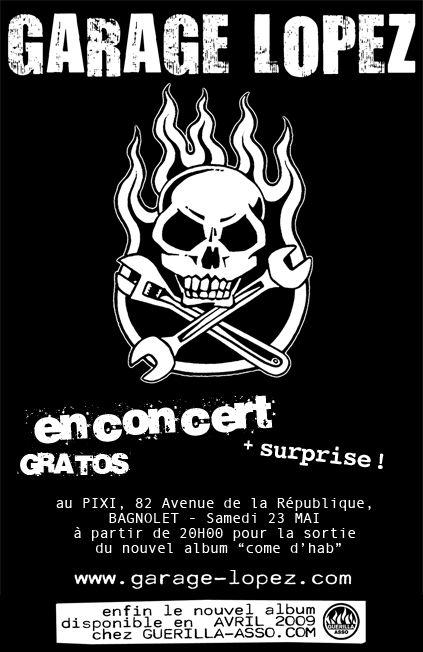 """23 mai 2009 Garage Lopez à Bagnolet """"Le Pixi"""""""