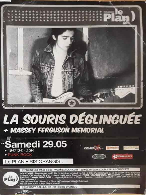 """29 mai 2010 La Souris Deglinguée, Massey Ferguson Memorial à Ris Orangis """"le Plan"""""""