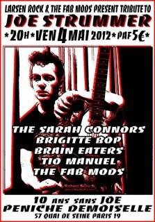 "4 mai 2012, The Far Mods, Tio Manuel, Brain Eaters, Brigitte Bop, The Sarah Connors à Paris ""Peniche Demoiselle"""