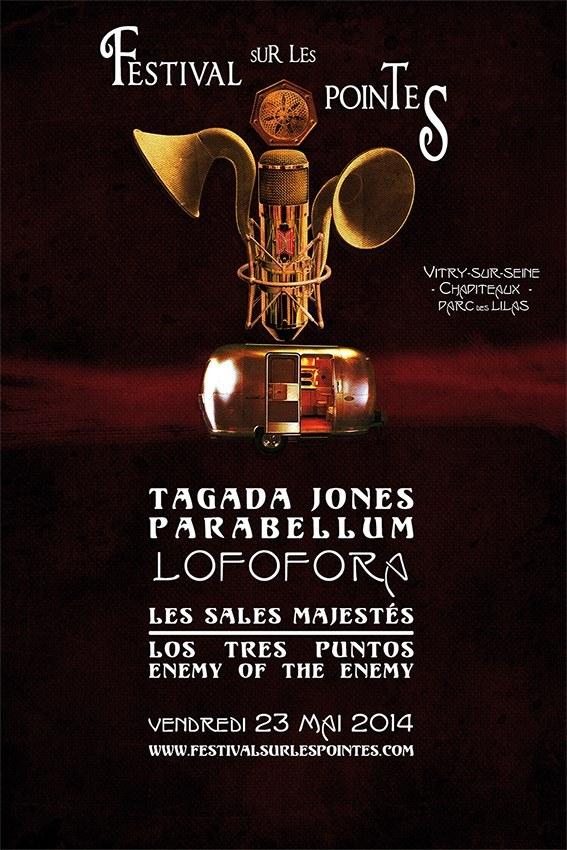 """23 mai 2014 Tagada Jones, Parabellum, Lofofora, les Sales Majestés, Los Tres Puntos, Enemy Of The Enemy à Vitry Sur Seine """"Parc des Lilas"""""""