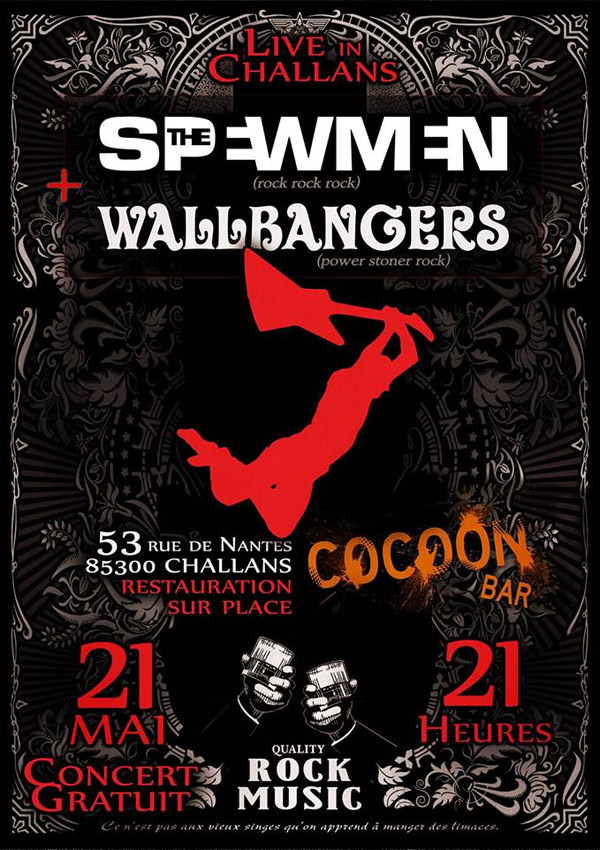 "21 mai 2016 The Spewmen, Wallbangers à Challans ""Le Cocoon"""