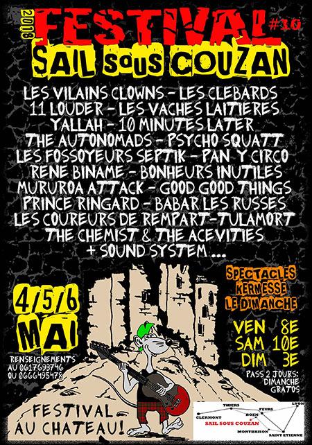 4 mai 2018 11 Louders, les Vilains Clowns, les Vaches Laitieres, Yallah, Tulamort, Les Clébards à Sail Sous Couzan