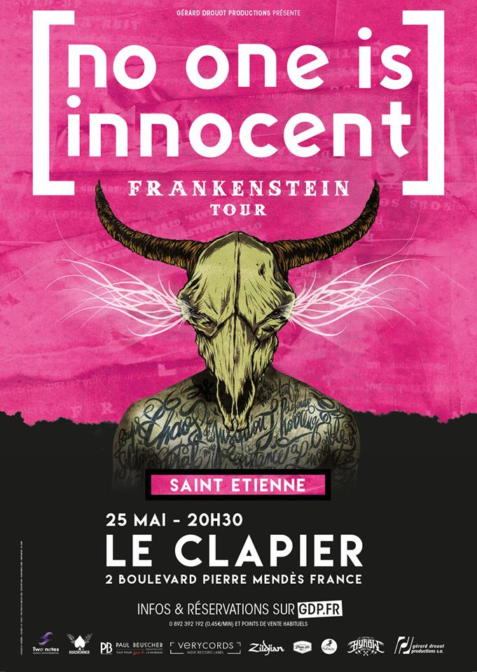 "25 mai 2018 No One Is Innocent à Saint Etienne ""le Clapier"""