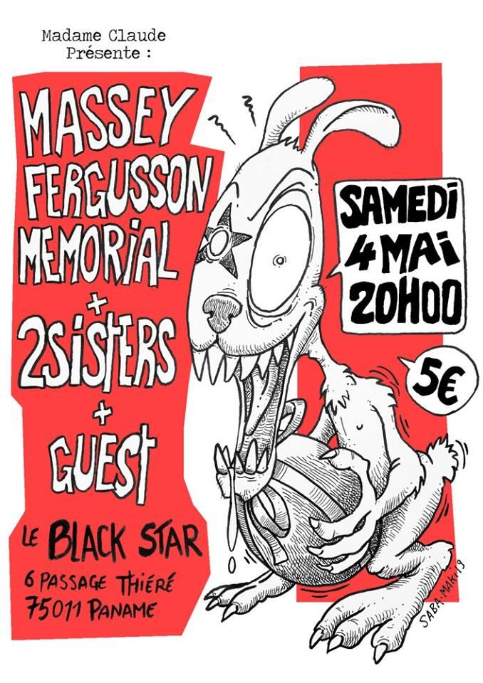 "4 mai 2019 Massey Fergusson Memorial, 2Sisters à Paris ""Black Star"""
