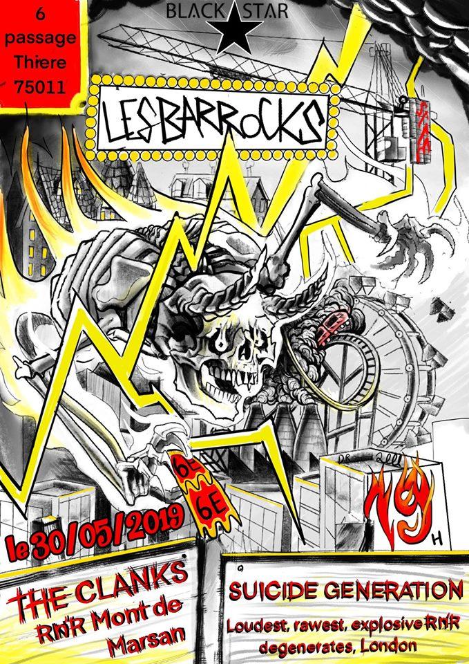 """30 mai 2019 The Clanks, Suicide Generation à Paris """"Black Star"""""""