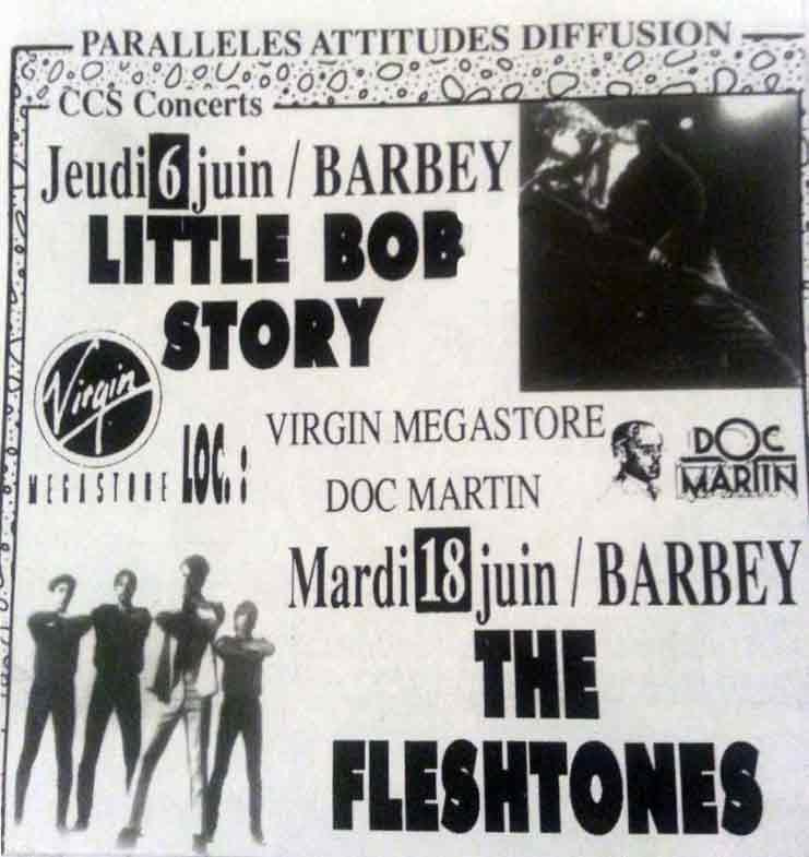 """6 juin 1991 Little Bob Story à Bordeaux """"Barbey"""""""