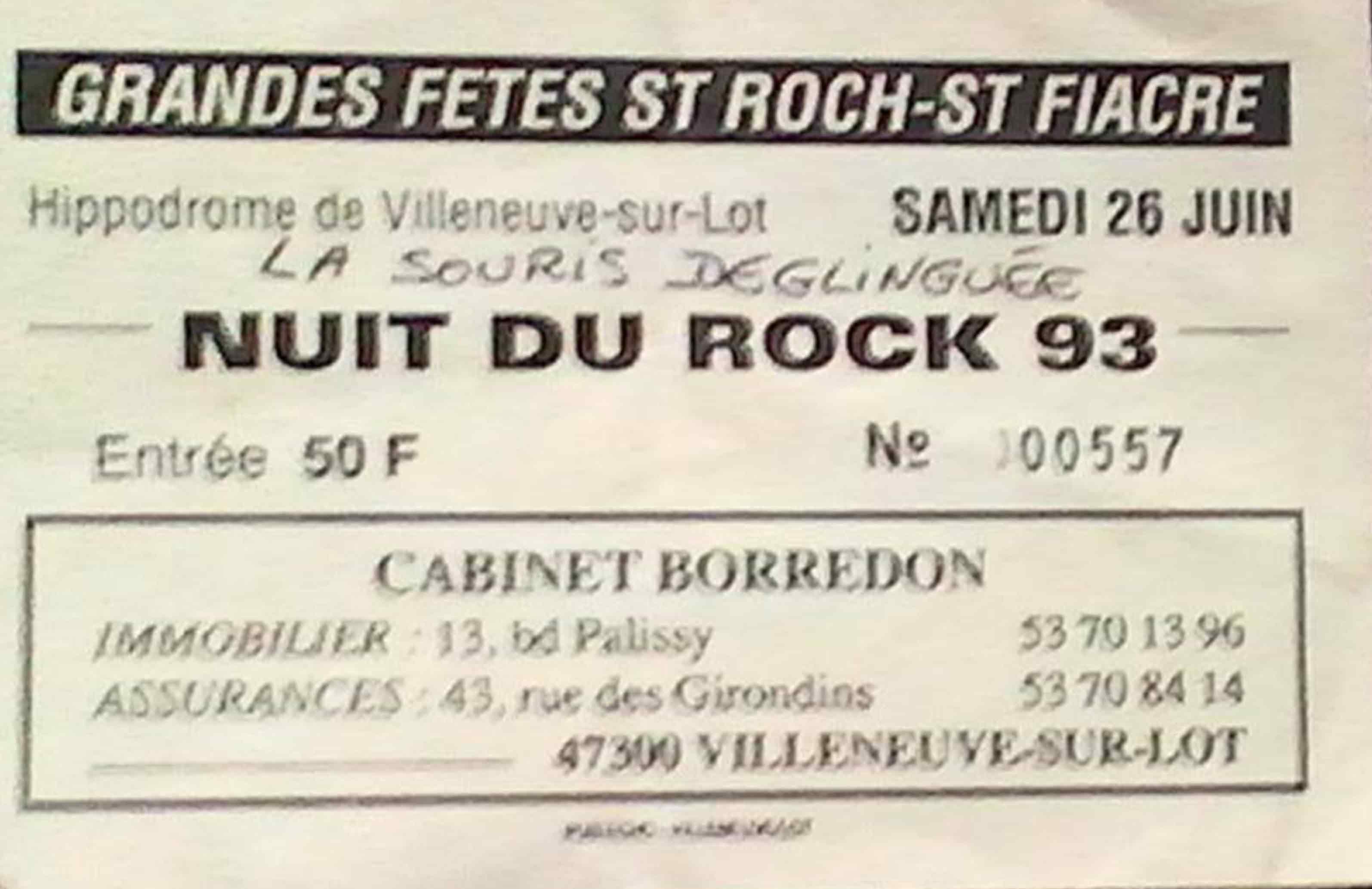 26 juin 1993 La Souris Deglinguée à Villeneuve sur Lot