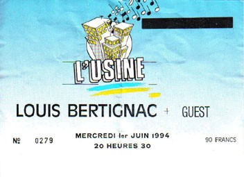 "1er juin 1994 Louis Bertignac à Reims ""l'Usine"""
