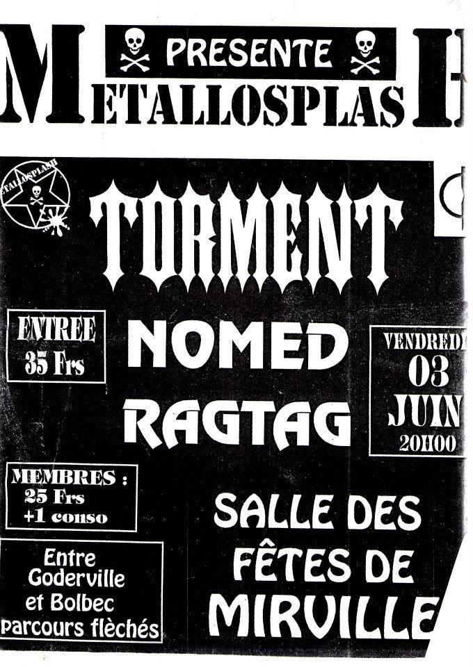 """3 juin 1994 Torment, Nomed, Ragtag à Mirville """"Salle des Fêtes"""""""