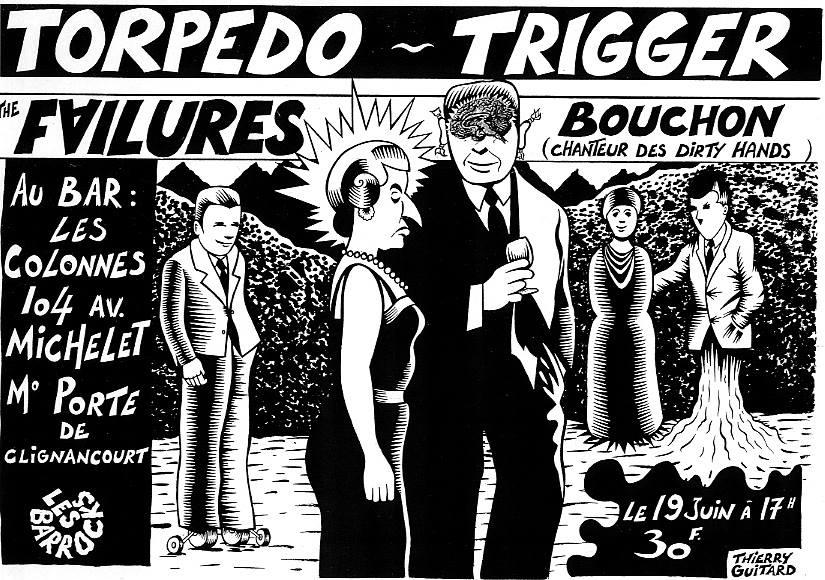 """19 juin 1994 ? Torpedo, Trigger, The Failures, Bouchon à Saint Ouen """"Bar les Colonnes"""""""
