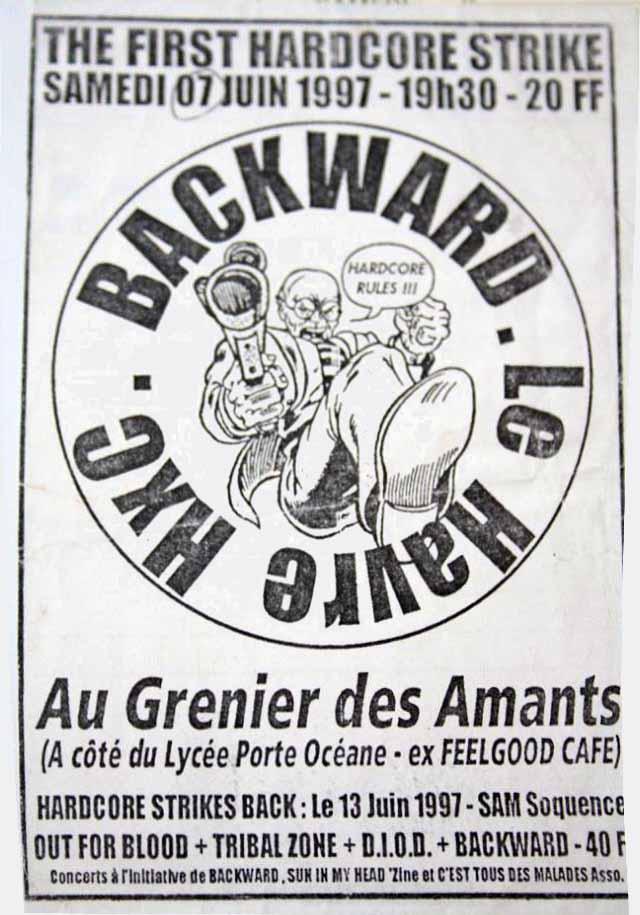 """7 juin 1997 Backward au Havre """"Au Grenier des Amants"""""""