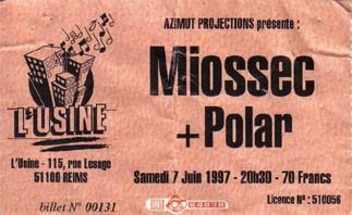 "7 juin 1997 Miossec, Polar à Reims ""Usine"""