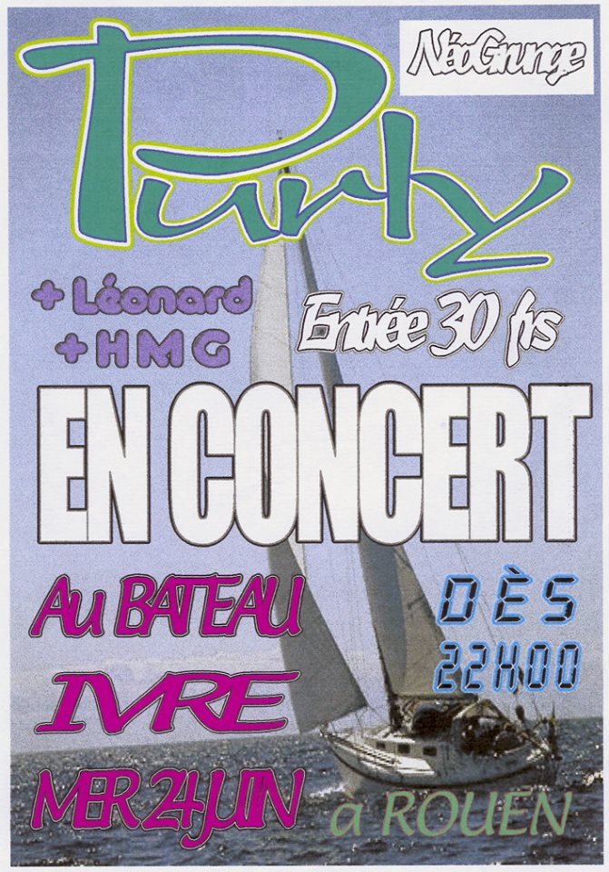 "24 juin 1999 Purly, Leonard, HMG à Rouen ""Bateau Ivre"""