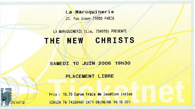 """10 juin 2006 The New Christs à Paris """"Maroquinerie"""""""