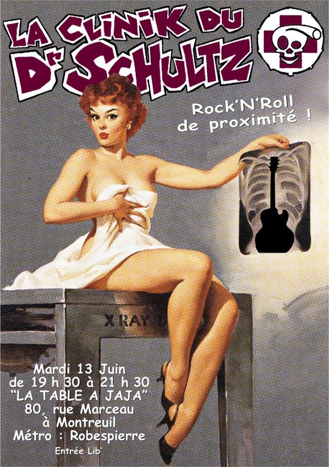 """13 juin 2006 La Clinik Du Dr Schultz à Montreuil """"la Table à Jaja"""""""