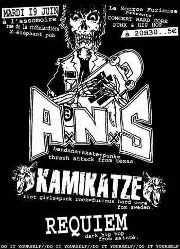 """19 juin 2007 ANS, Kamikatze, Requiem à Saint-Etienne """"L'Assommoir"""""""