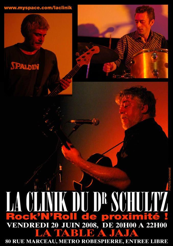 """20 juin 2008 La Clinik du Dr Schultz à Montreuil """"la Table à Jaja"""""""