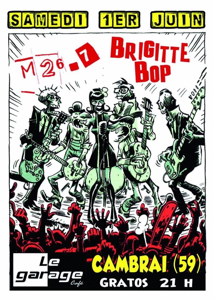"""1er juin 2013 M 26-7, Brigitte Bop à Cambrai """"Garage Café"""""""