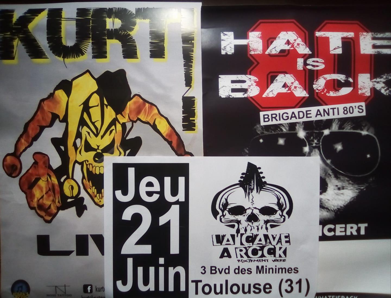 """21 juin 2018 Kurt, Hate Is Back à Toulouse """"la Cave A Rock"""""""