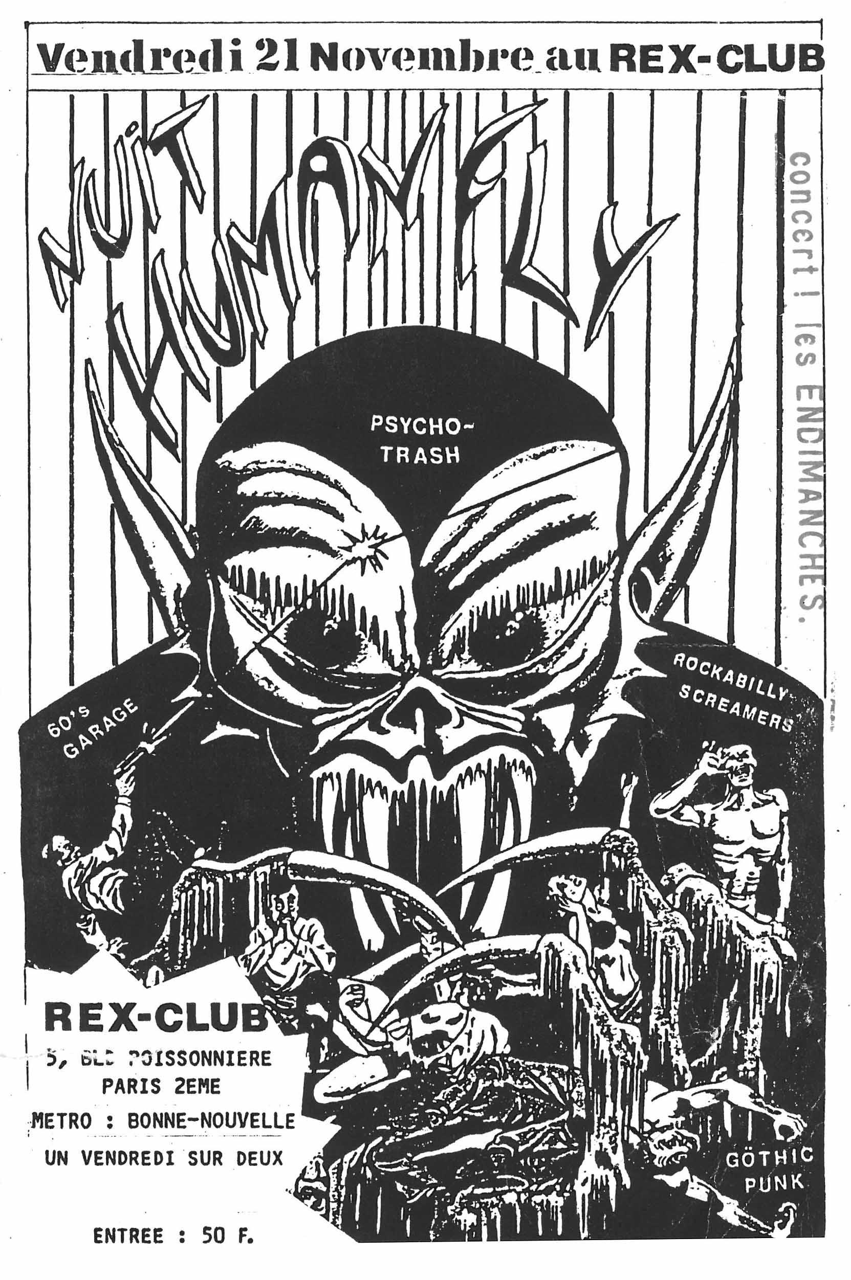 """21 novembre 1986 les Endimanches à Paris """"le Rex"""""""