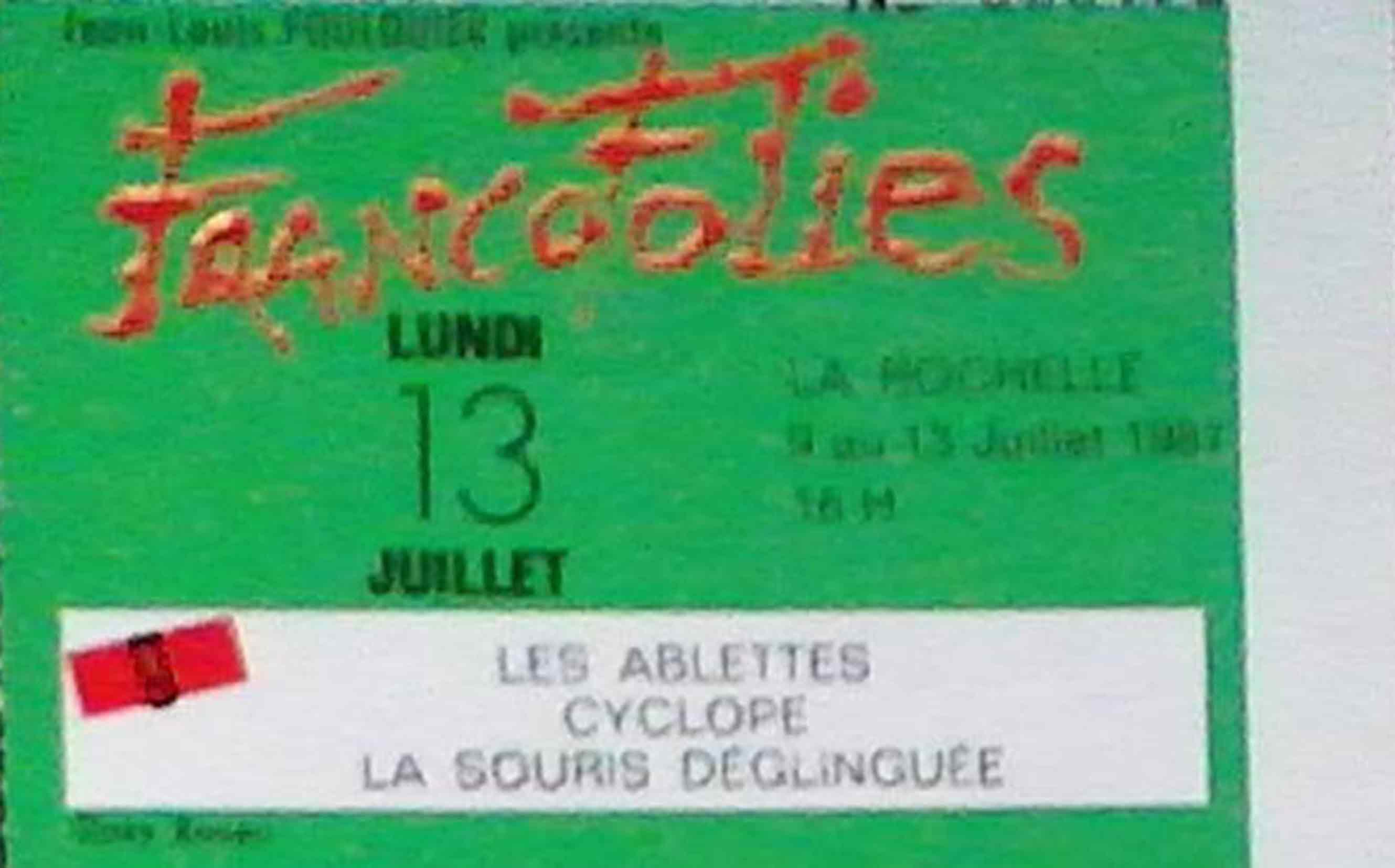 13 juillet 1987 Les Ablettes, Cyclope, La Souris Deglinguée à La Rochelle