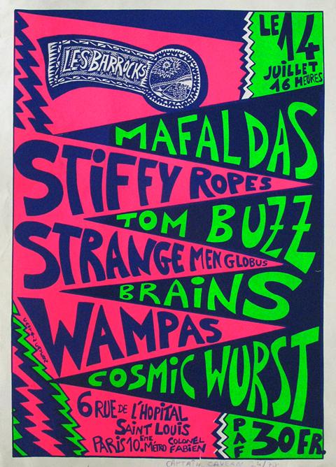 14 juillet ? Cosmic Wurst, Wampas, Brains, Strange Men Globus, Tom Buzz, Stiffy Ropes, Mafaldas à Paris