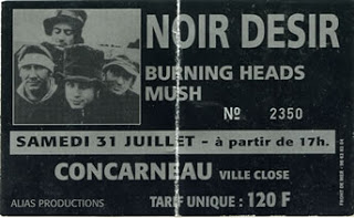 31 juillet 1993 Burning Heads, Mush, New Model Army, Noir Desir à Concarneau