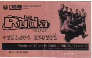 "10 mars 2000 La Ruda Salska, Bilbok Barzoi à Reims ""Usine"""