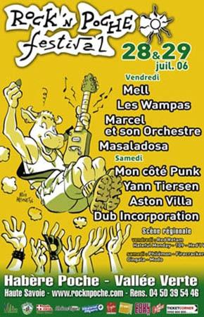 28 juillet 2006 Mell, Les Wampas, Marcel et Son Orchestre, Masaladosa à Habere Poche