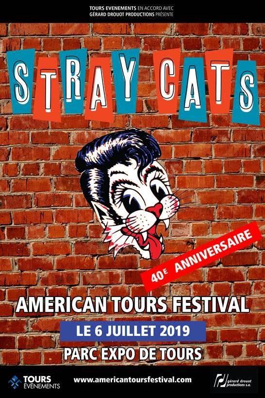 """6 juillet 2019 Stray Cats à Tours """"Parc des Expositions"""""""