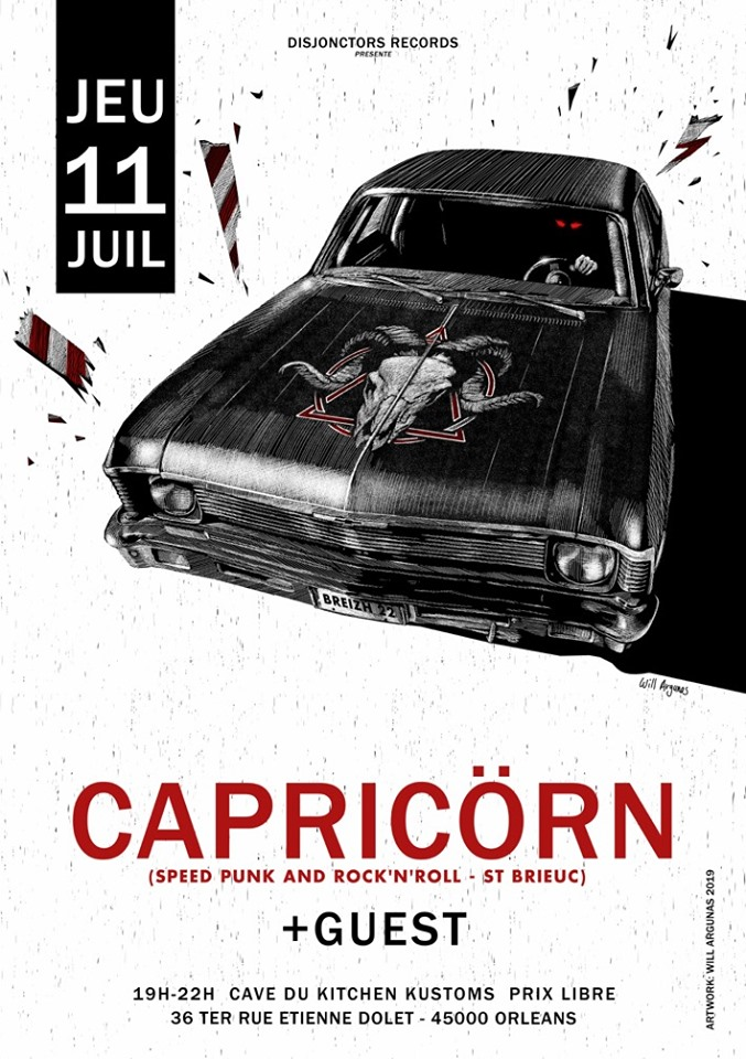 "11 juillet 2019 Capricorn à Orléans ""Kitchen Kustoms"""