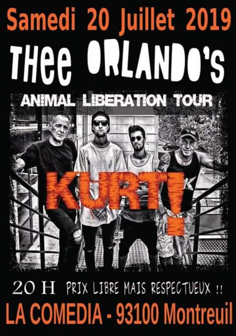 "20 juillet 2019 Kurt, Thee Orlando's à Montreuil ""Comedia"""