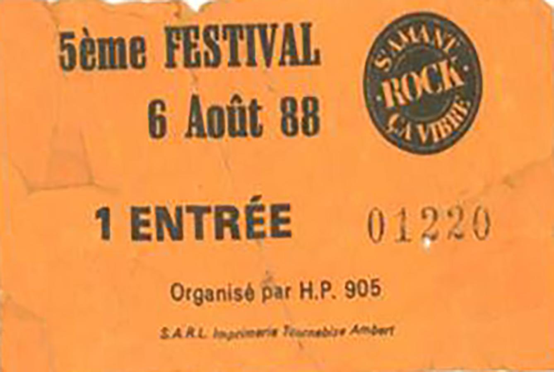 6 aout 1988 City Kids, Roadrunners à Saint Amand Roche Savine