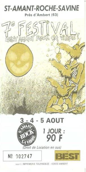 3 aout 1990 à Saint Amant Roche Savine