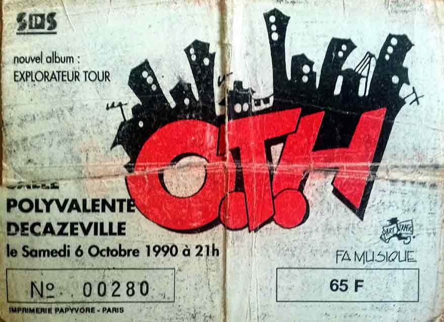 """6 octobre 1990 OTH à Decazeville """"Salle Polyvalente"""""""